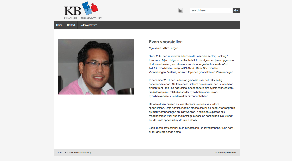 KB Finance website