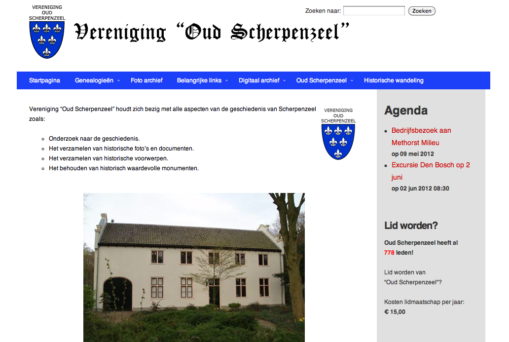 Oud Scherpenzeel website